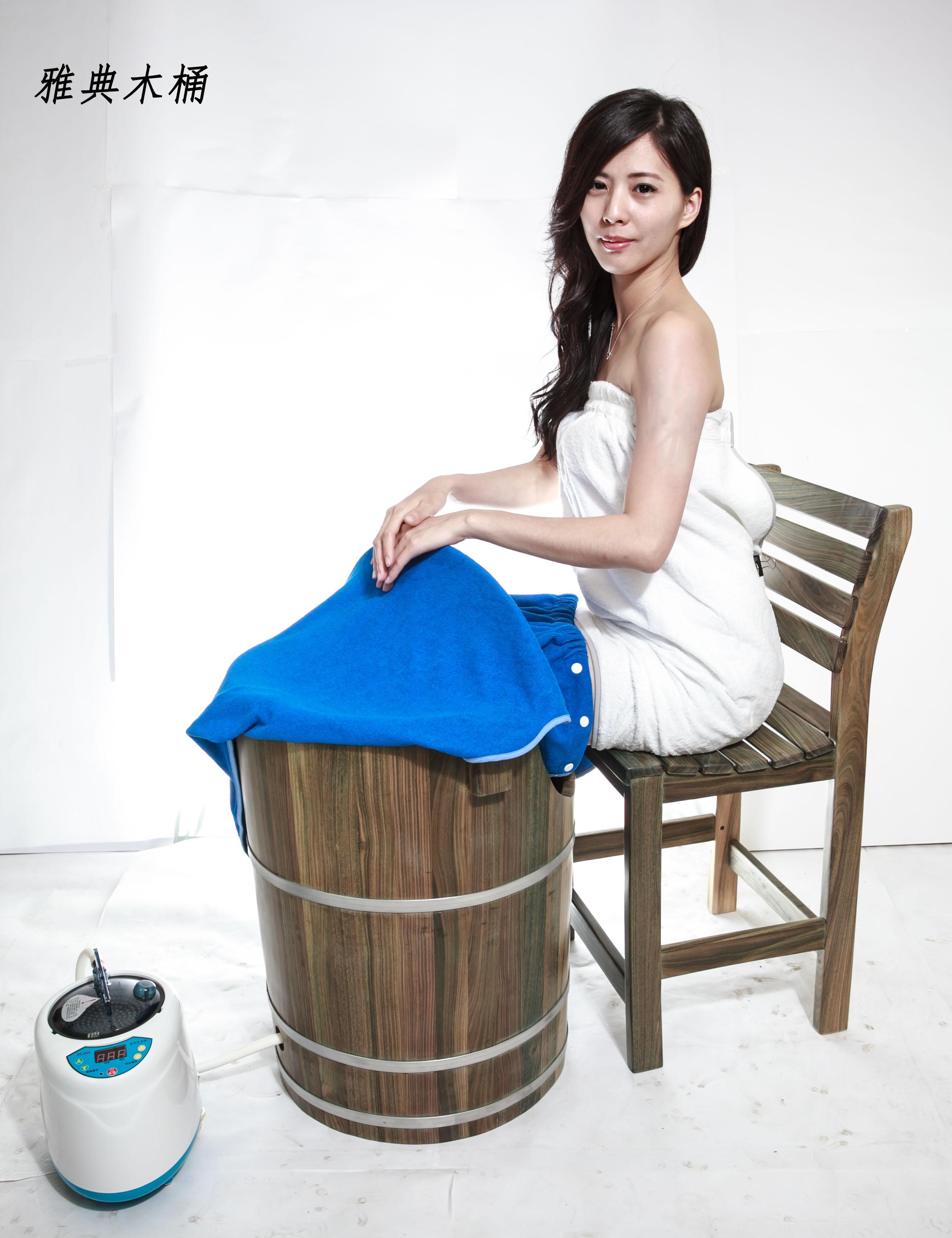 蒸腳幫助血液循環 綠檀木 蒸腳桶 足蒸桶 蒸腰桶 )台灣第一領導品牌-雅典木桶 木浴缸、方形木桶、泡腳桶、蒸腳桶、蒸氣烤箱