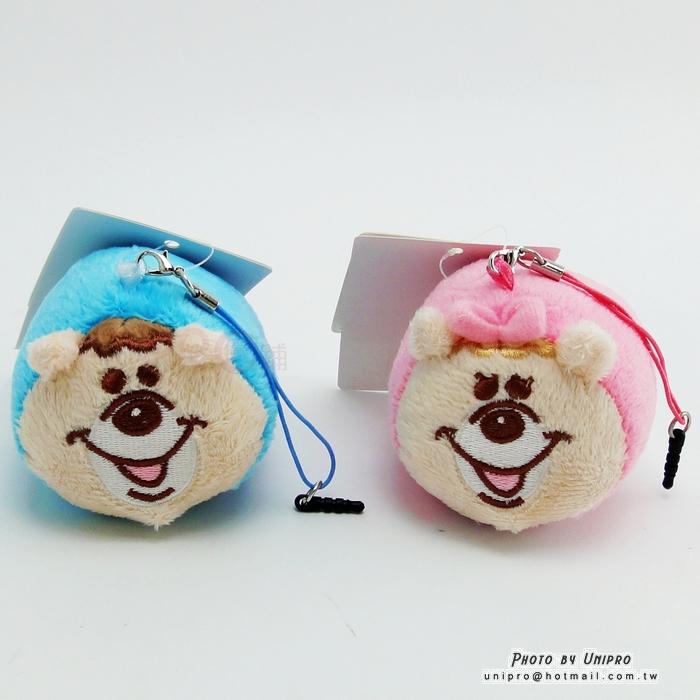 【UNIPRO】WC熊 KUMATAN 疊疊樂 吊飾 螢幕擦拭布 娃娃 耳機塞 防塵塞 正版授權