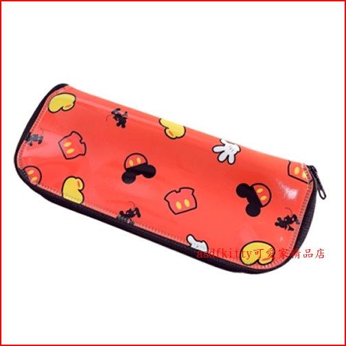 asdfkitty可愛家☆迪士尼米奇L號防水環保餐具袋/筆袋/收納袋-韓國製