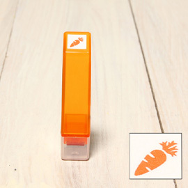「Kodomo小孩牌」手帳小印章 - 208胡羅菠(橘)