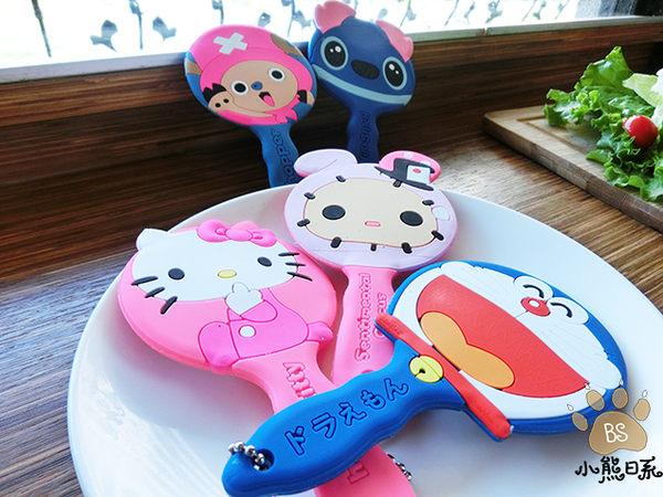 小熊日系* 迪士尼 史迪奇 Kitty 喬巴 悠悠兔 哆啦A夢 握鏡 手拿鏡 隨身鏡 鏡子