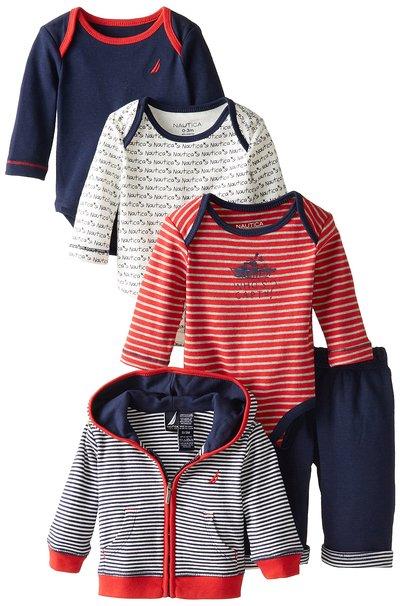 兒童服飾 Nautica男海軍風組合搭外套6-9M(禮盒包裝)  [babyzuriel 祖瑞兒嬰幼童用品]