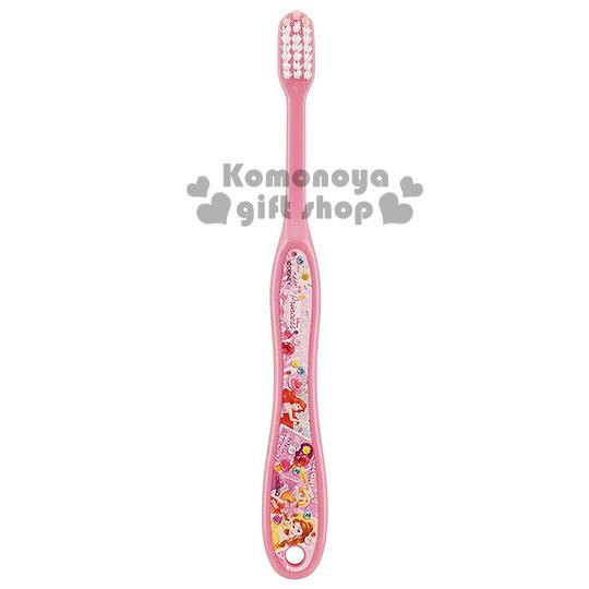 〔小禮堂〕迪士尼 公主 兒童牙刷《粉.寶石.花.適6~12歲》易握形狀設計