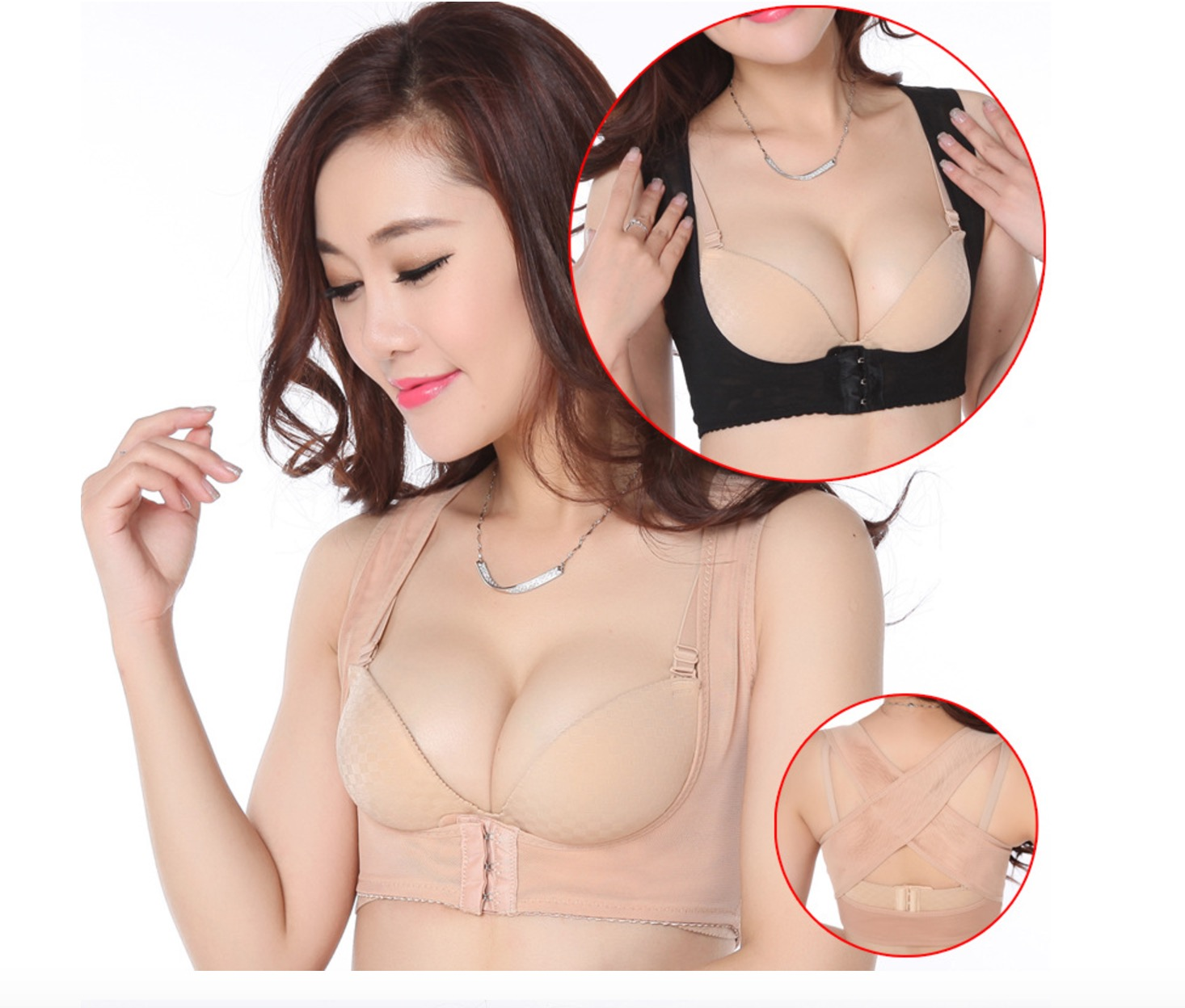 胸托提胸收副乳聚攏托胸調整胸塑身內衣駝背矯正內衣