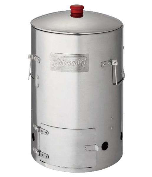 【露營趣】 中和 美國 Coleman 不鏽鋼煙燻桶 料理桶 煙燻筒 烤箱 桶仔雞設計 CM-6987