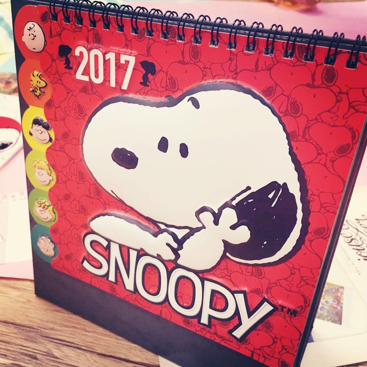 PGS7 (現貨+預購) 史努比系列商品 - 史努比 2017 立體 桌曆 月曆 日曆 行事曆