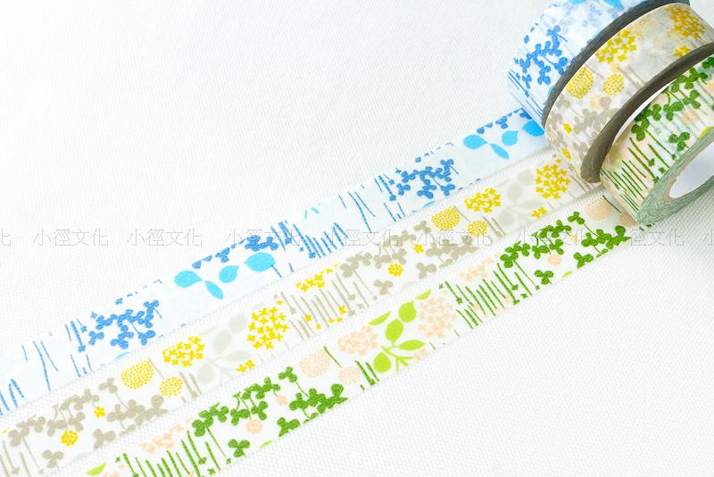 *小徑文化*日本進口和紙膠帶 倉敷意匠 北的模樣帖 - 小小花園 ( 26531-02 )