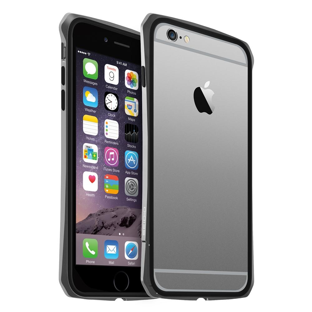 SEIDIO TETRA™ 極簡金屬吸震保護框 for Apple iPhone 6 Plus 5.5 - 灰