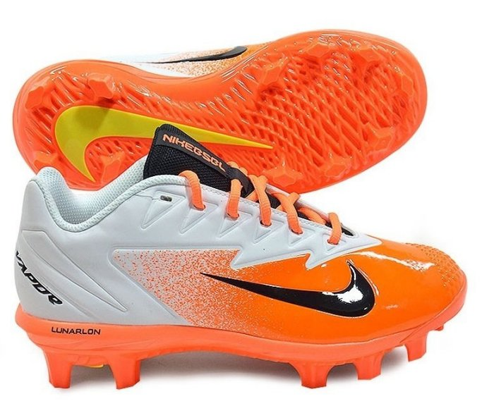 棒球世界全新 Nike Vapor Ultrafly Pro 棒壘球膠釘鞋(852698-108)閃電白橘特價