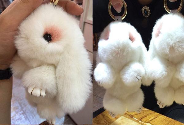 日韓連線超大兔毛球兔子掛飾不是fendi吊飾031067海渡