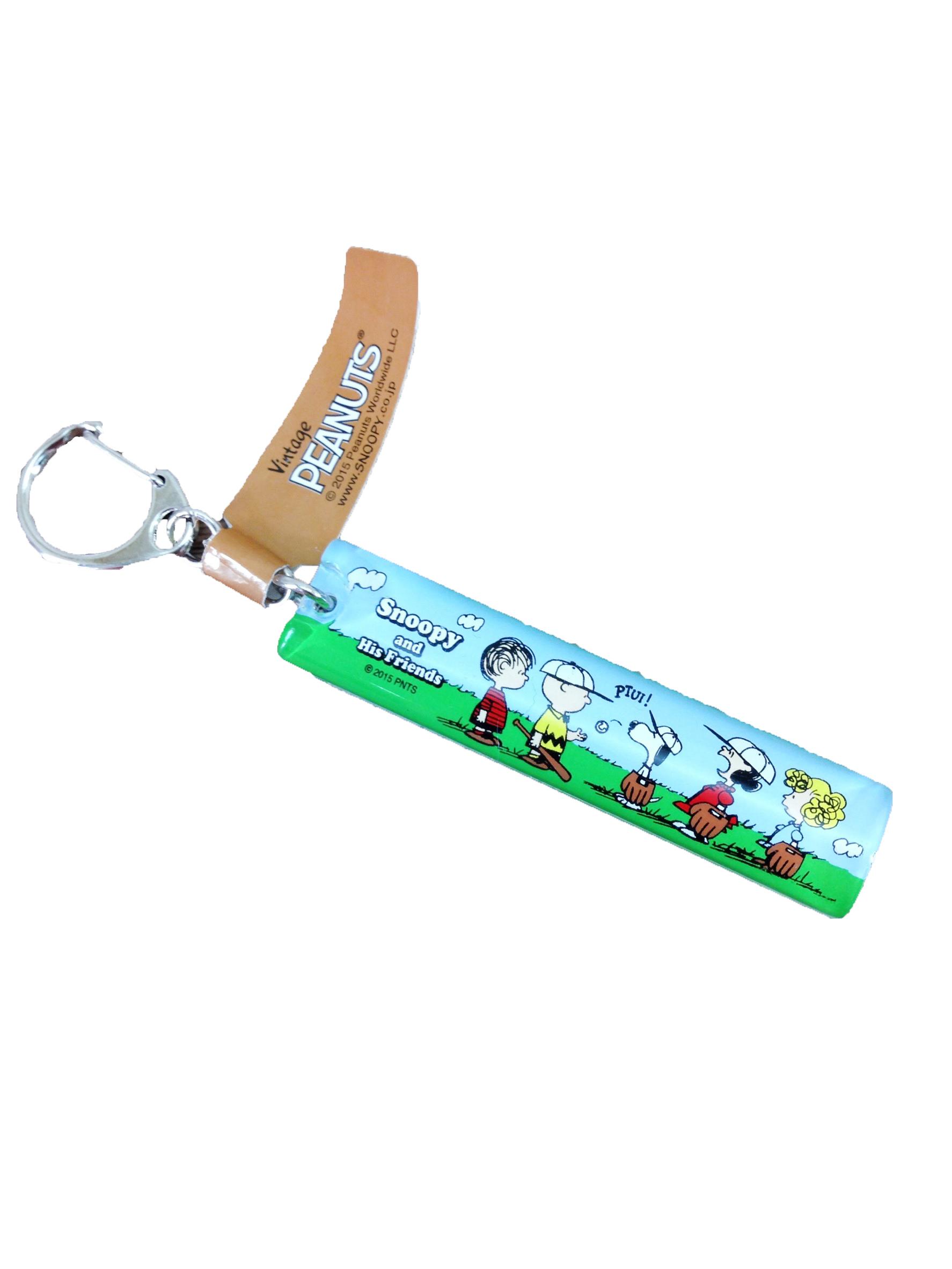 【真愛日本】16051100053壓克力橢圓鎖圈-棒球草地綠  史努比 SNOOPY  吊飾 鑰匙圈 飾品 正品 限量 預購
