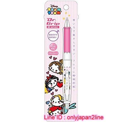 【真愛日本】16110900054QQ搖搖自動鉛筆-白雪公主條紋紅   迪士尼 白雪公主 Schneewittchen  自動筆 文具用品