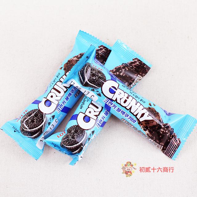 【0216零食會社】LOTTE_CRUNKY巧克力棒21g