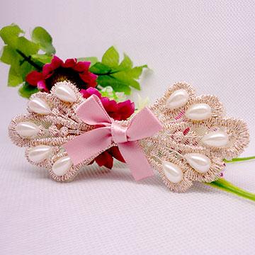 WallFree窩自在 鏤空蕾絲/珍珠/鑲鑽魔法瀏海貼片-珍珠蕾絲28