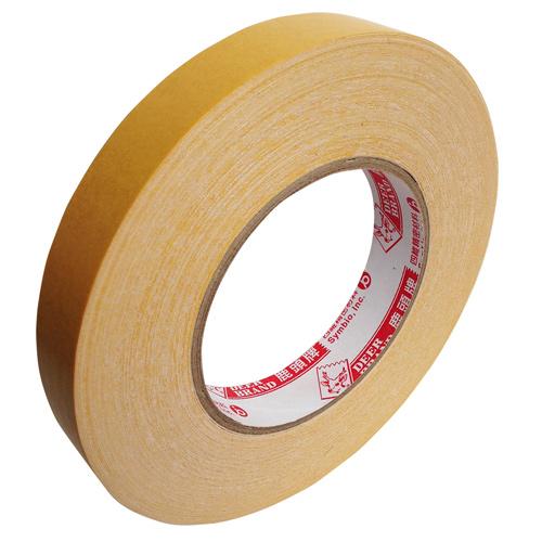 【鹿頭牌 雙面膠帶】DS17B萬黏雙面布膠帶 20mm×25M(6支/卷)