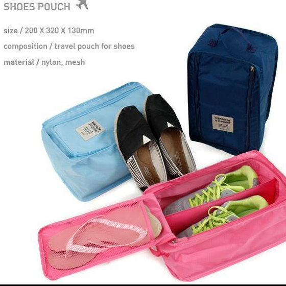 韓系 戶外旅行運動用品防水防塵鞋袋鞋盒手提收納盒衣服整理袋鞋套/單售
