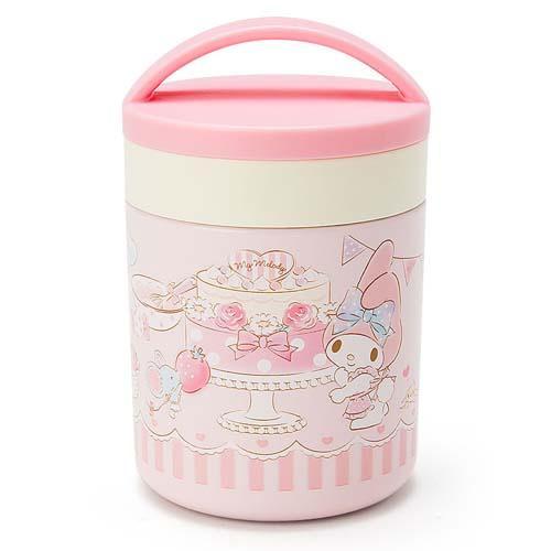 日本代購預購 三麗鷗 melody美樂蒂 保溫保冷杯餐具組便當盒野餐盒 300ml 723-884