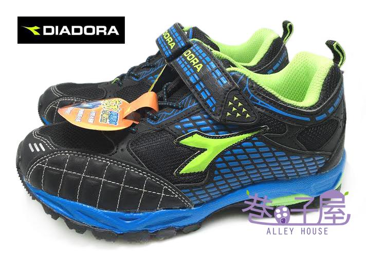 【巷子屋】義大利國寶鞋-DIADORA迪亞多納 男童抗水寬楦越野運動跑鞋 [9886] 黑藍 超值價$398