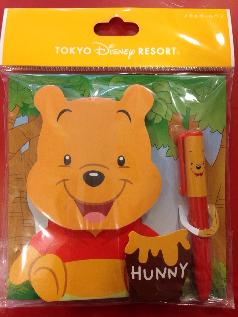 【真愛日本】15123000052限定DN文具組-維尼便條本附筆  迪士尼 小熊維尼 POOH 維尼熊  便條本  附筆  日本帶回  限量