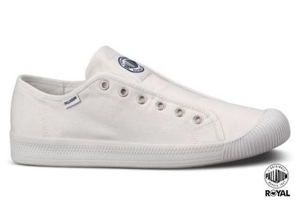 Palladium 新竹皇家 Flex Lace 白色  水洗布 免鞋帶 休閒懶人鞋 低統 男款 NO.A6506