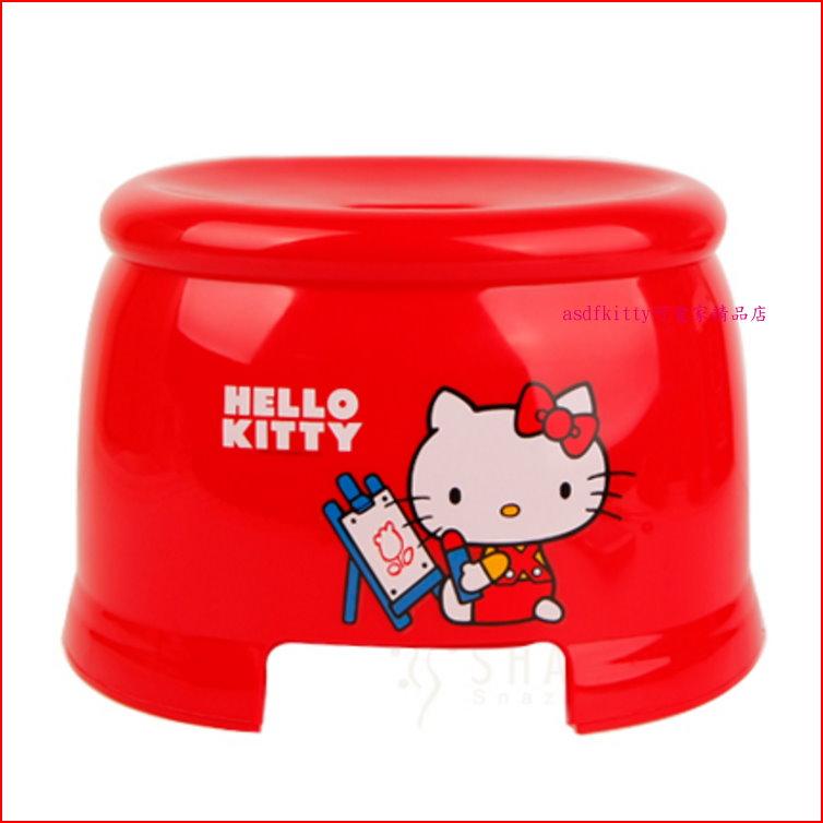 asdfkitty可愛家☆KITTY小畫板防滑小椅子/板凳-客廳.浴室都好用-韓國製