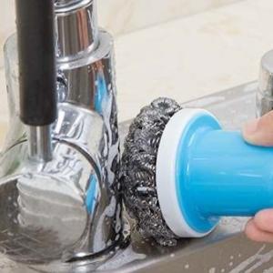 美麗大街【BF528E24E1】廚房帶柄洗碗洗鍋鋼絲球去污不銹鋼清潔刷碗刷
