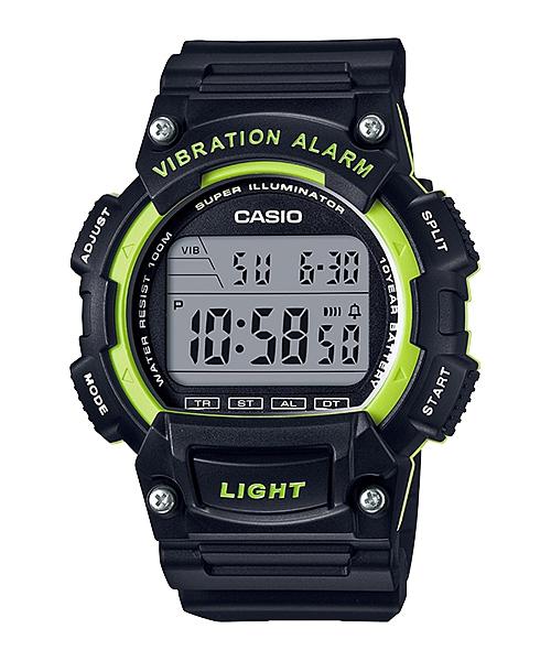 CASIO G-SHOCK W-736H-3A 數位10年電力腕錶/黑綠47mm