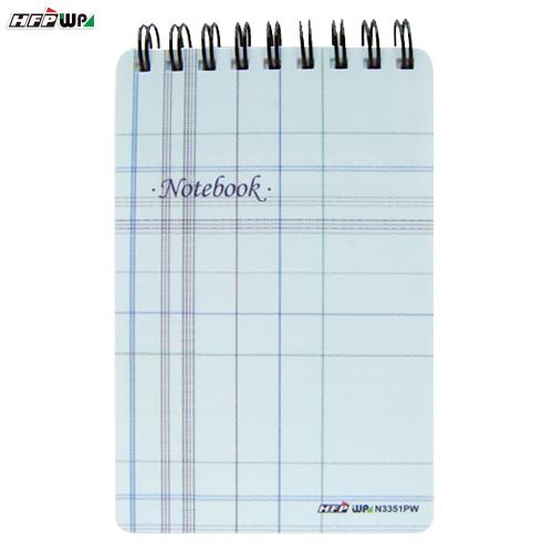 HFPWP 格子 口袋型筆記本100張內頁附索引尺台灣製 N3351PW / 本