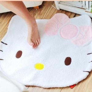美麗大街【104070412】Hello Kitty造型白色絨毛地毯 地墊