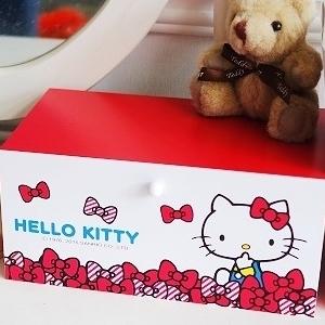 美麗大街【104100815】HELLO KITTY 紅色抽屜式桌面置物櫃 收納箱 收納盒