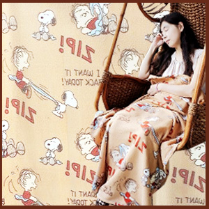 美麗大街【104110101】史努比&萊諾斯 保暖刷毛毯