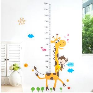 美麗大街【BF120E006】寶寶測量身高貼紙 可移除身高尺貼紙