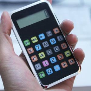 美麗大街【BF524E19】8位數蘋果手機造型計算器