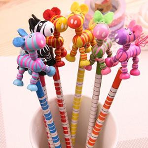 美麗大街【BF215E15E830】彩色可愛小驢子搖頭鉛筆