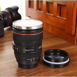 美麗大街【BF085E1E818】創意單反相機鏡頭不銹鋼杯 400ml