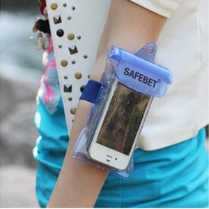 美麗大街【BF542E11E861】SAFEBET 可觸屏戶外游泳手機防水袋(適合5.5寸以下)