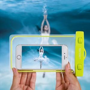 美麗大街【BF561E15】SAFEBET 三星Note 蘋果6plus 夜光型屏手機防水袋游泳潛水手機套