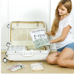 美麗大街【BF151E01】SAFEBET 韓國可愛娃娃透明防水旅行衣物收納袋衣物鞋子整理袋(8入)