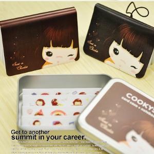 美麗大街【BF3739108】餅乾女孩筆記本 名片夾 貼紙鐵盒組