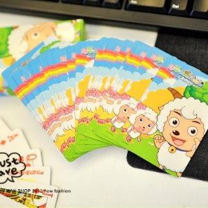 衫皇衫家【S01011407】過年樂趣卡通印花撲克牌(三款可挑)