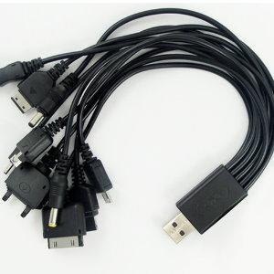 美麗大街【BFN14E2E7】USB一分十電源轉接分線器