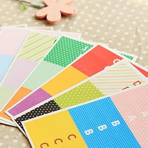 美麗大街【BF156529】可愛字母標籤貼貼紙(10張入)
