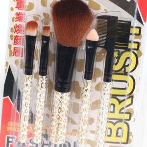 美麗大街【BFG20E1E2E2】金色豹紋 彩妝五件套刷具組