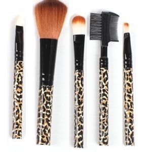 美麗大街【BFG20E4E20E2】豹紋 彩妝五件套刷具組