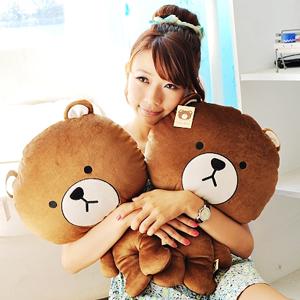 美麗大街【10208198】超夯表情公仔熊大布偶娃娃