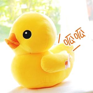 美麗大街【102091732】黃色小鴨會發聲吊飾玩偶