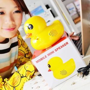 美麗大街【102101418】黃色小鴨造型多媒體音樂喇叭音響