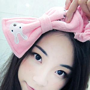 美麗大街【BFK23E4E16】砂糖兔/太子兔蝴蝶結束髮帶