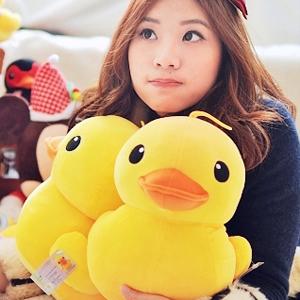 美麗大街【102122601】黃色小鴨會發聲吊飾玩偶