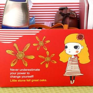 美麗大街【BFF01E2E10EK51】可愛女孩DIY桌面收納盒